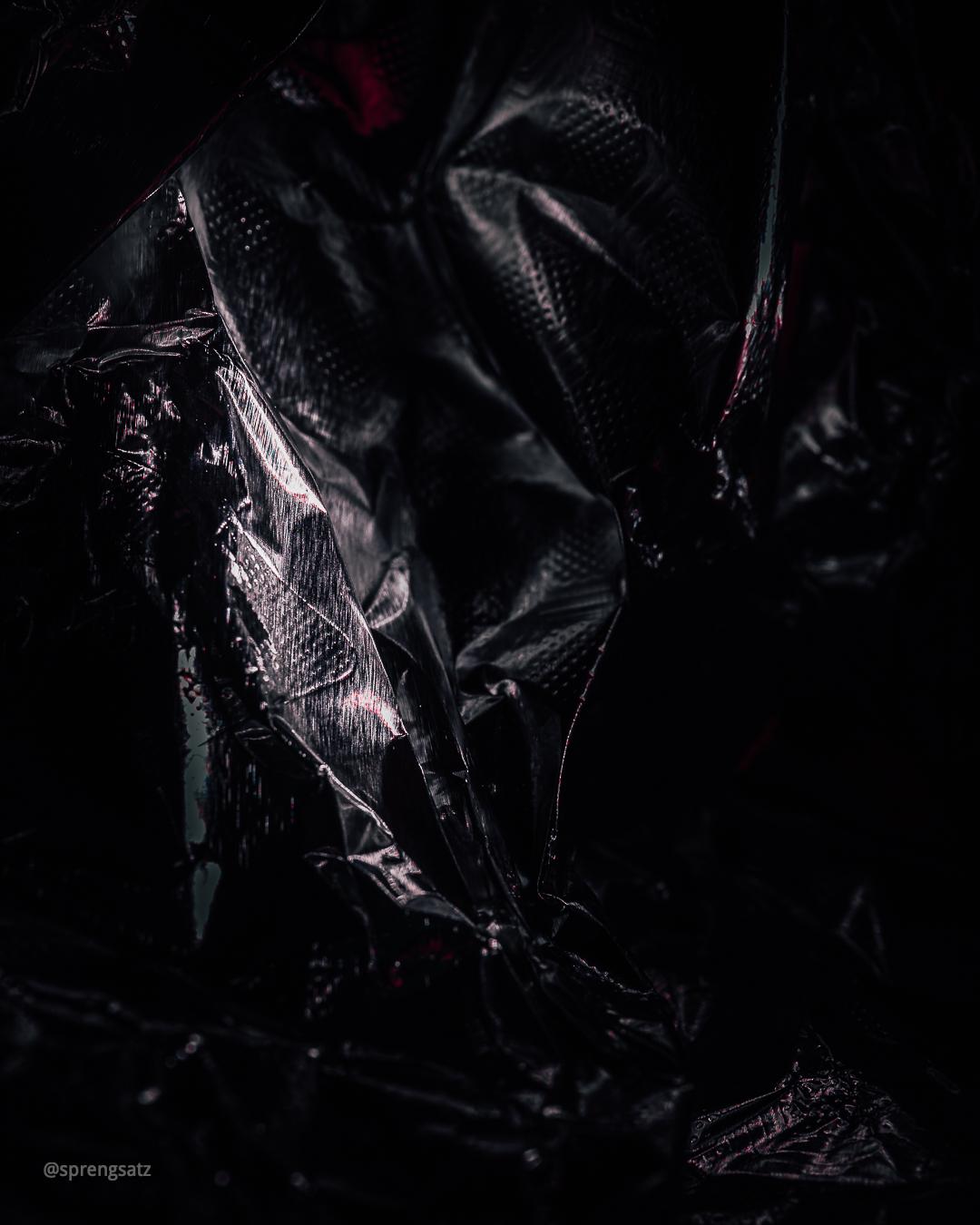 Abstrakte Fotografie mit Aluminiumfolie