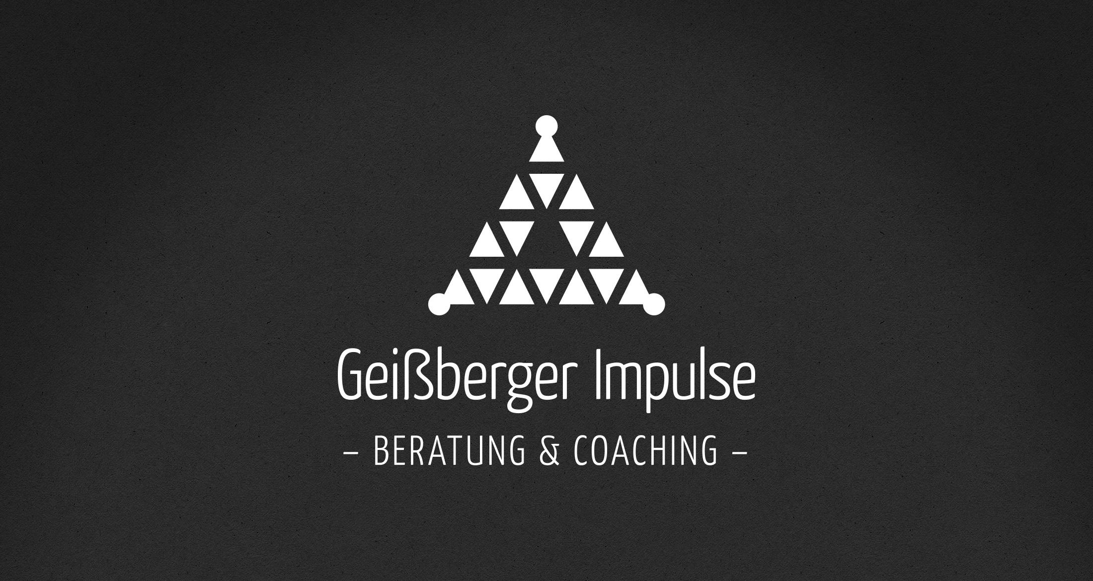 Logo Geißberger Impulse, Dannenfels, 1-farbig weiß