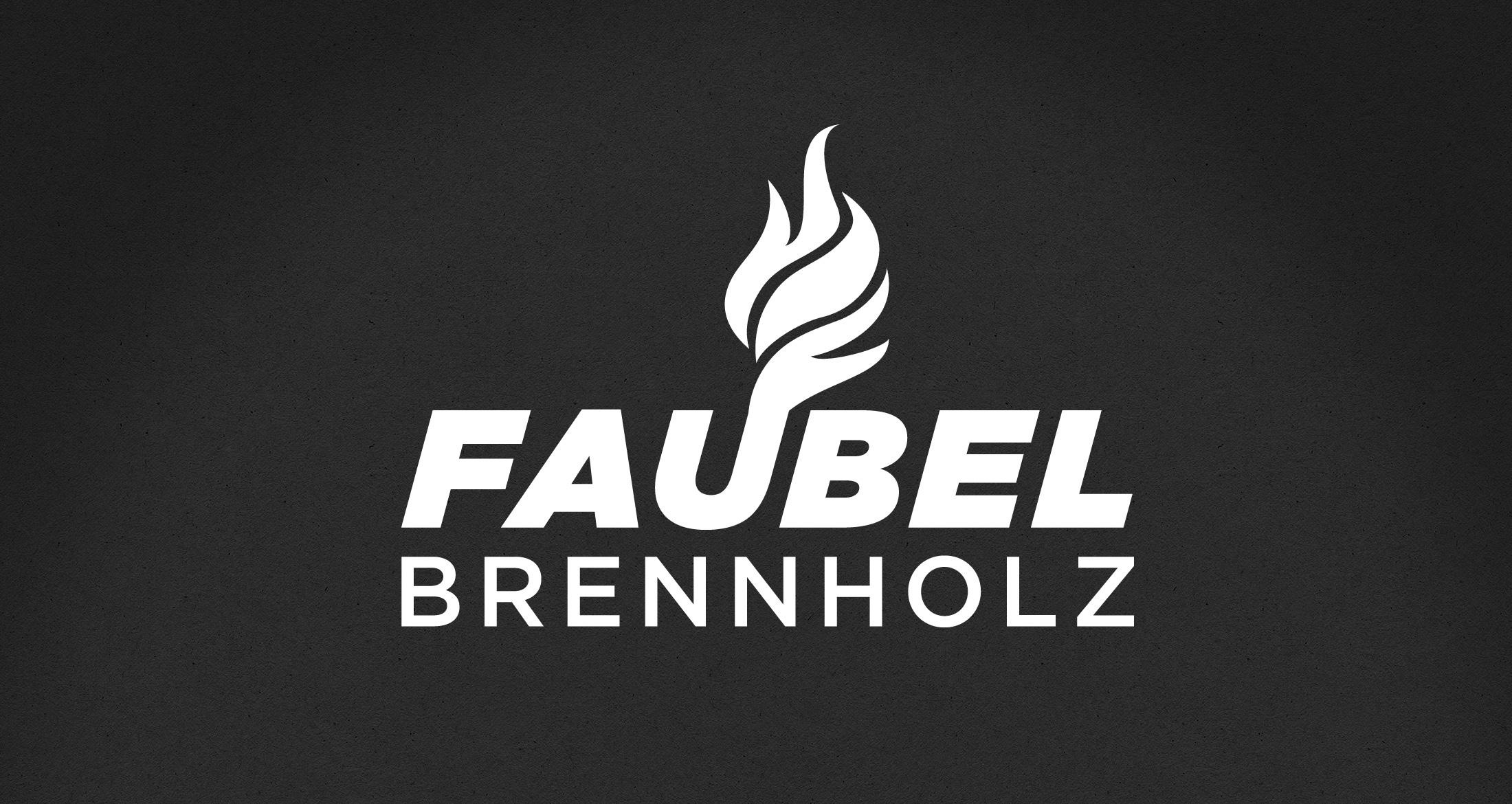 Logo Brennholzhandel, Mörsfeld, 1-farbig weiß (negativ)