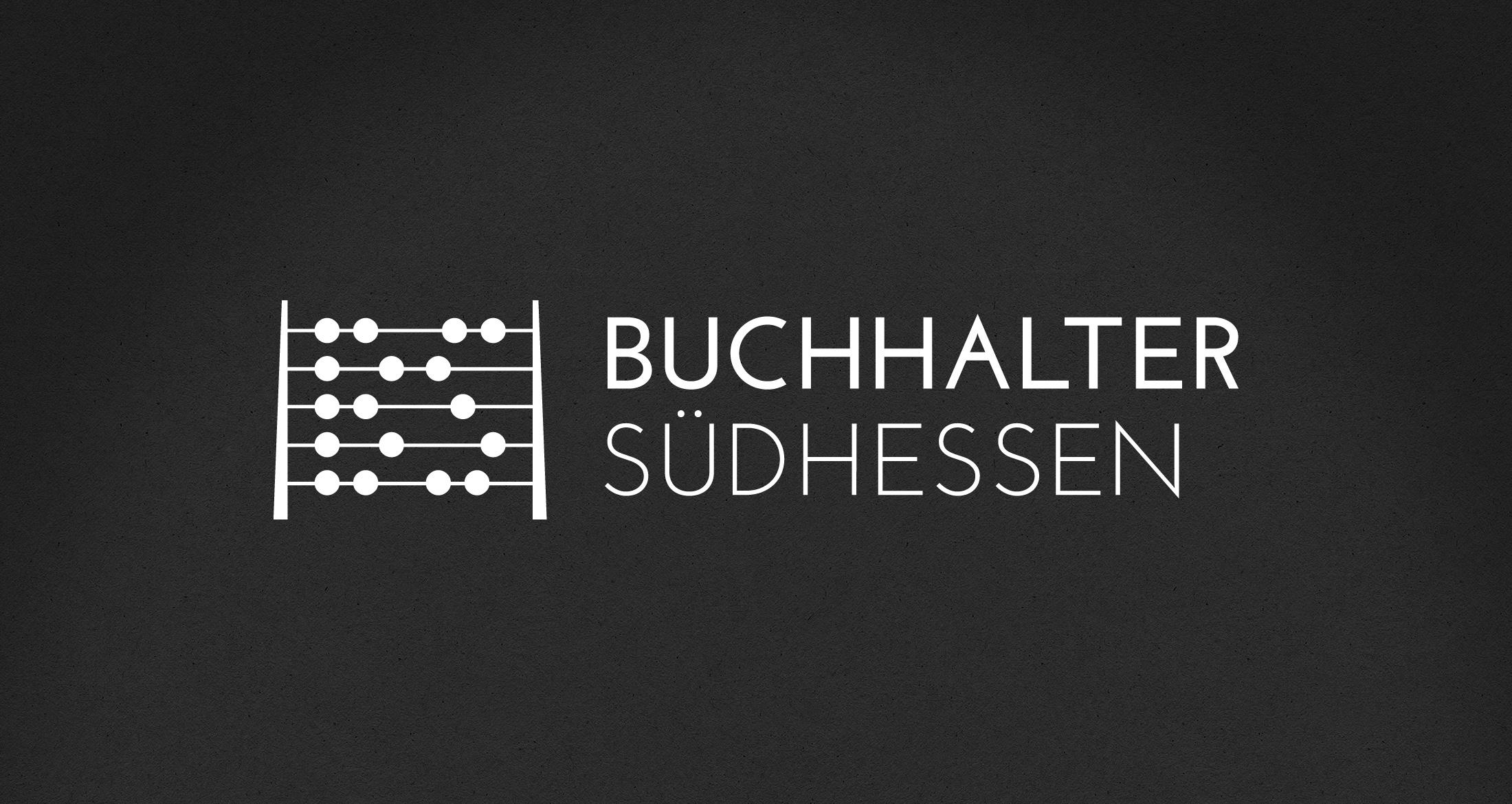 Logo Buchhalter Südhessen, 1-farbig weiß (negativ)