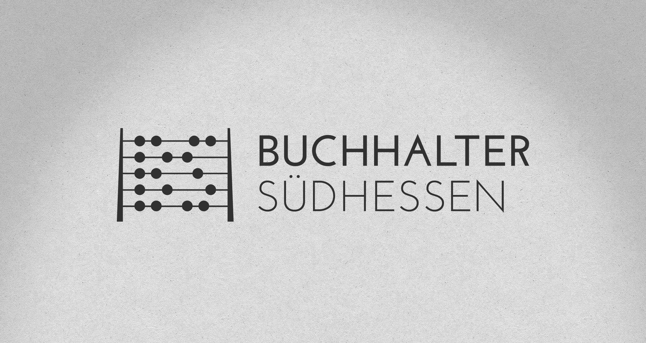Logo Buchhalter Südhessen, 1-farbig schwarz