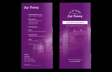 Cocktailkarte (Gestaltung + Druck), Bar Kirchheimbolanden