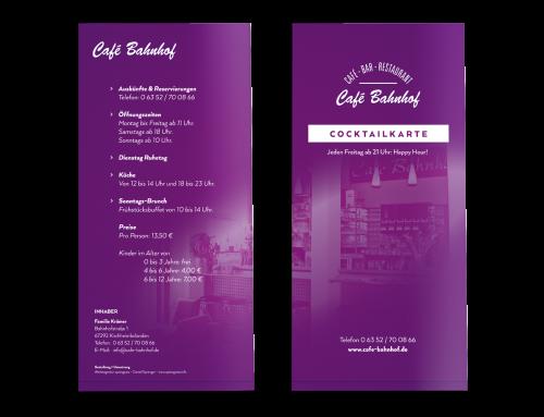 Cocktailkarte Café – Bar – Restaurant, Kirchheimbolanden