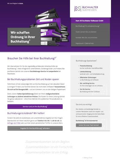 Firmenhomepage Buchhaltungsservice Lampertheim