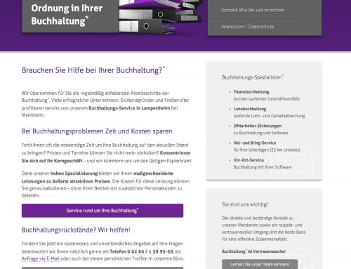 Webseite Buchhaltungsservice online