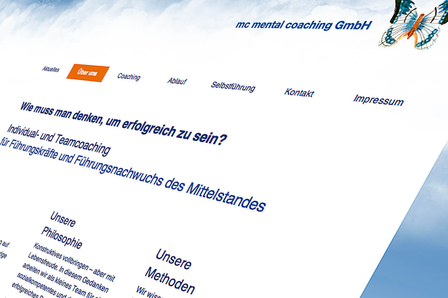 Firmenhomepage Personal Coaching, Worms (Detail)