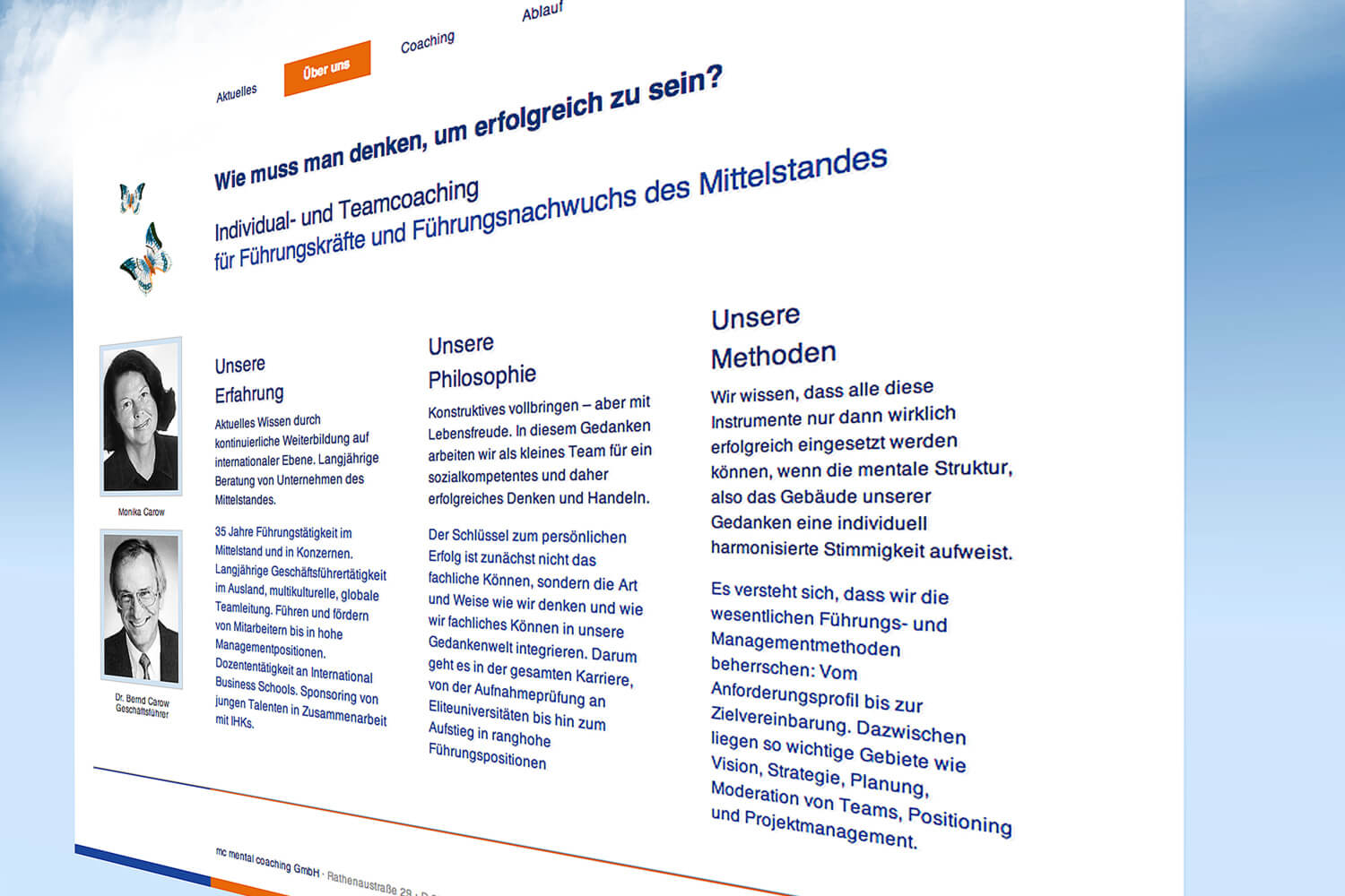 Firmenhomepage Personal Coaching, Worms (Detail 2)