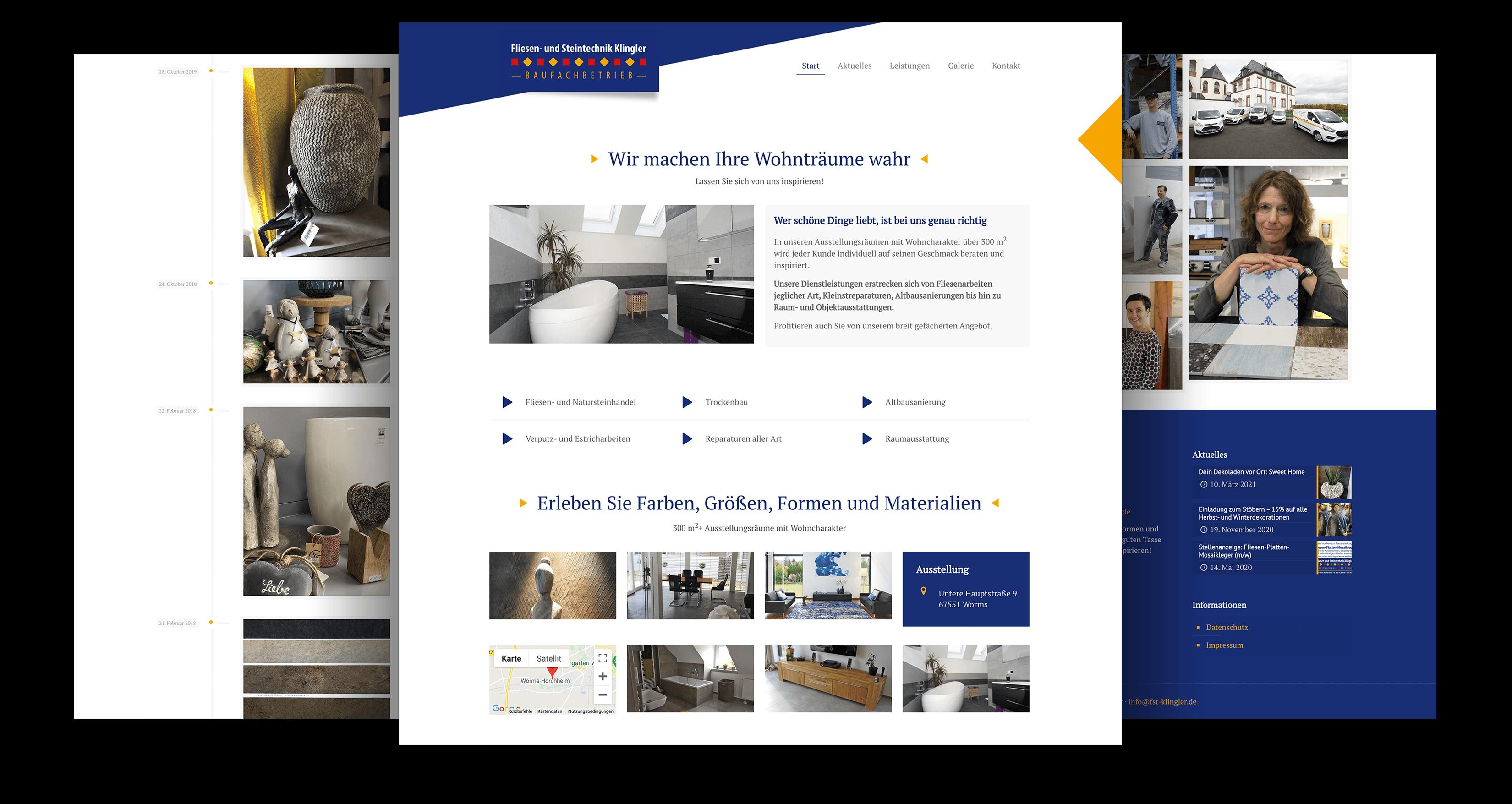 Firmenwebsite erstellen lassen Baufachbetrieb, Webdesigner Worms-Horchheim