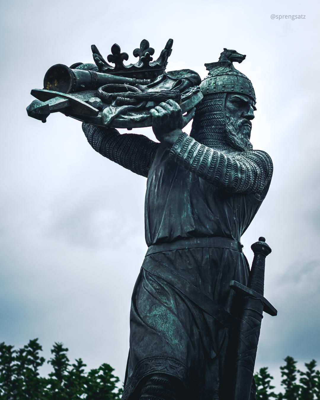 Hagendenkmal (Nibelungensaga) in Worms am Rhein