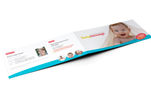 Flyer / Infomaterial Babymassage, Göllheim (Außen)
