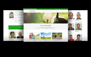 Internetauftritt Golfakademie/Golflehrer, Gernsheim/Wiesbaden