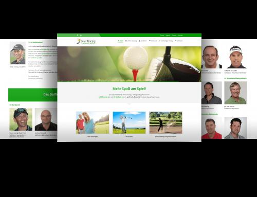 Internetauftritt Golfakademie, Gernsheim/Wiesbaden