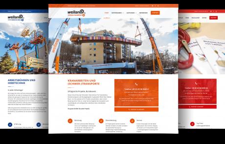 Internetauftritt Weiland Gruppe Lampertheim, Übersicht