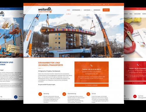 Internetauftritt Weiland Firmengruppe, Lampertheim