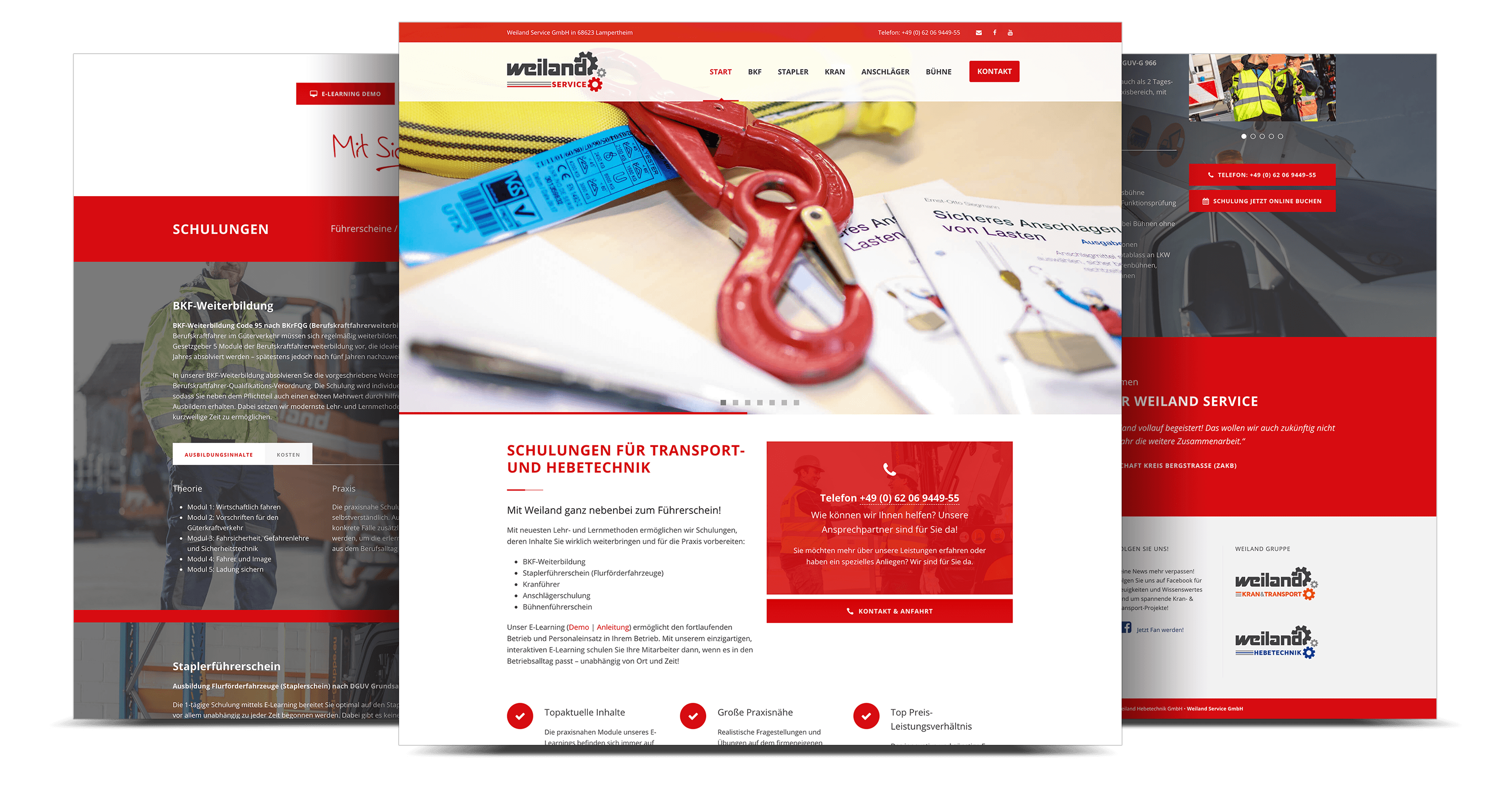 Internetauftritt Weiland Service, Lampertheim