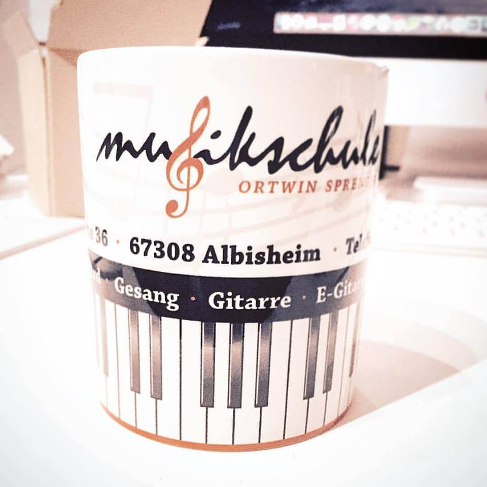 Kaffeetasse mit Logo als Werbegeschenk