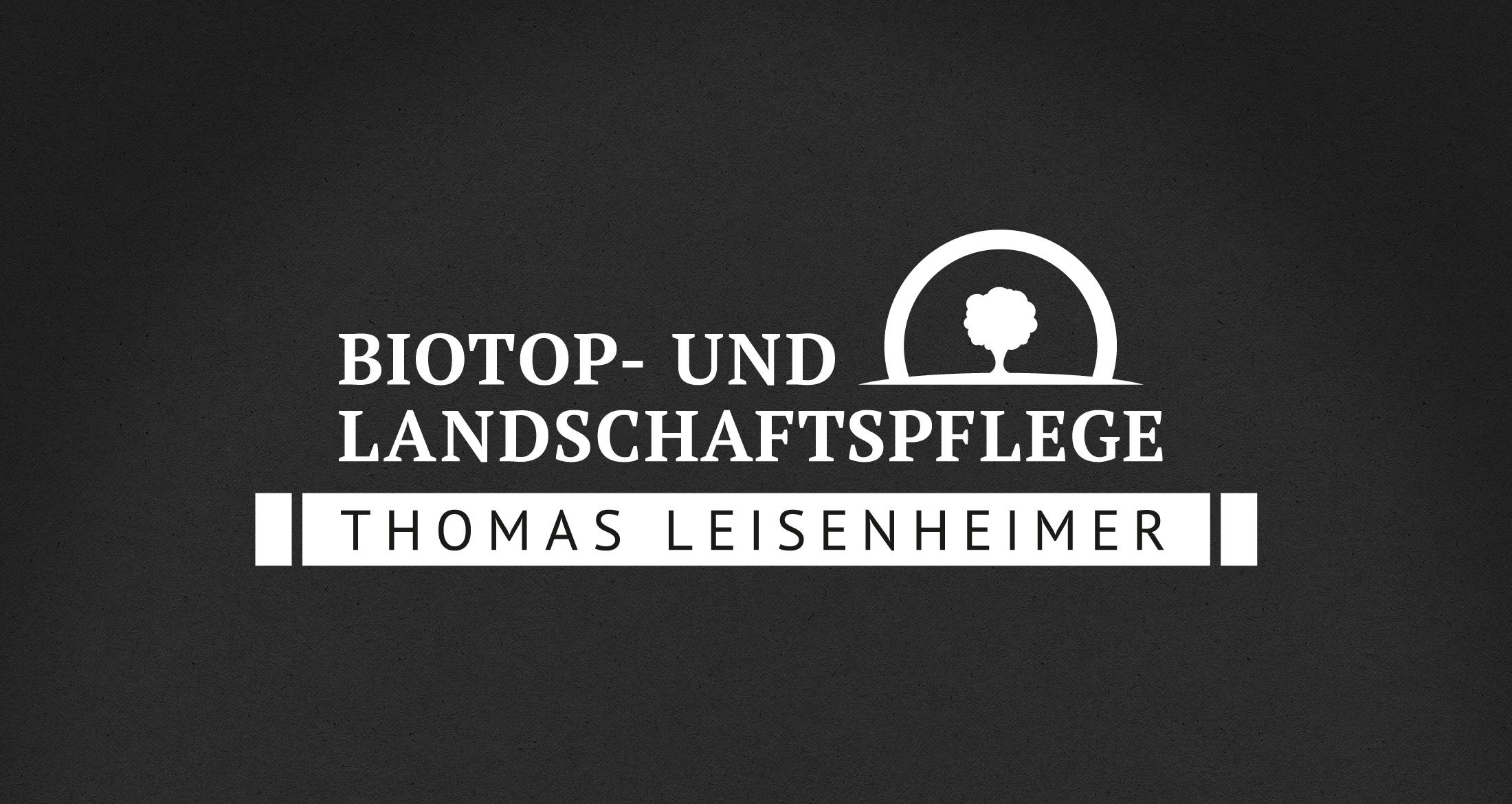 Logo Biotop- und Landschaftspflege, Münsterappel, 1-farbig weiß (negativ)