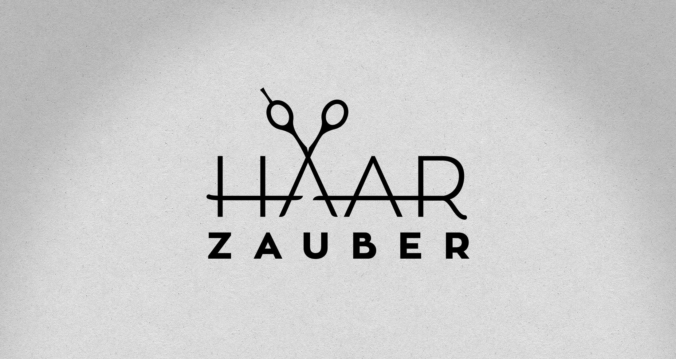 Logo Haarzauber, Jakobsweiler, 1-farbig