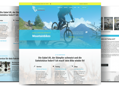 Webvisitenkarte Mountainbike Service, Otterbach