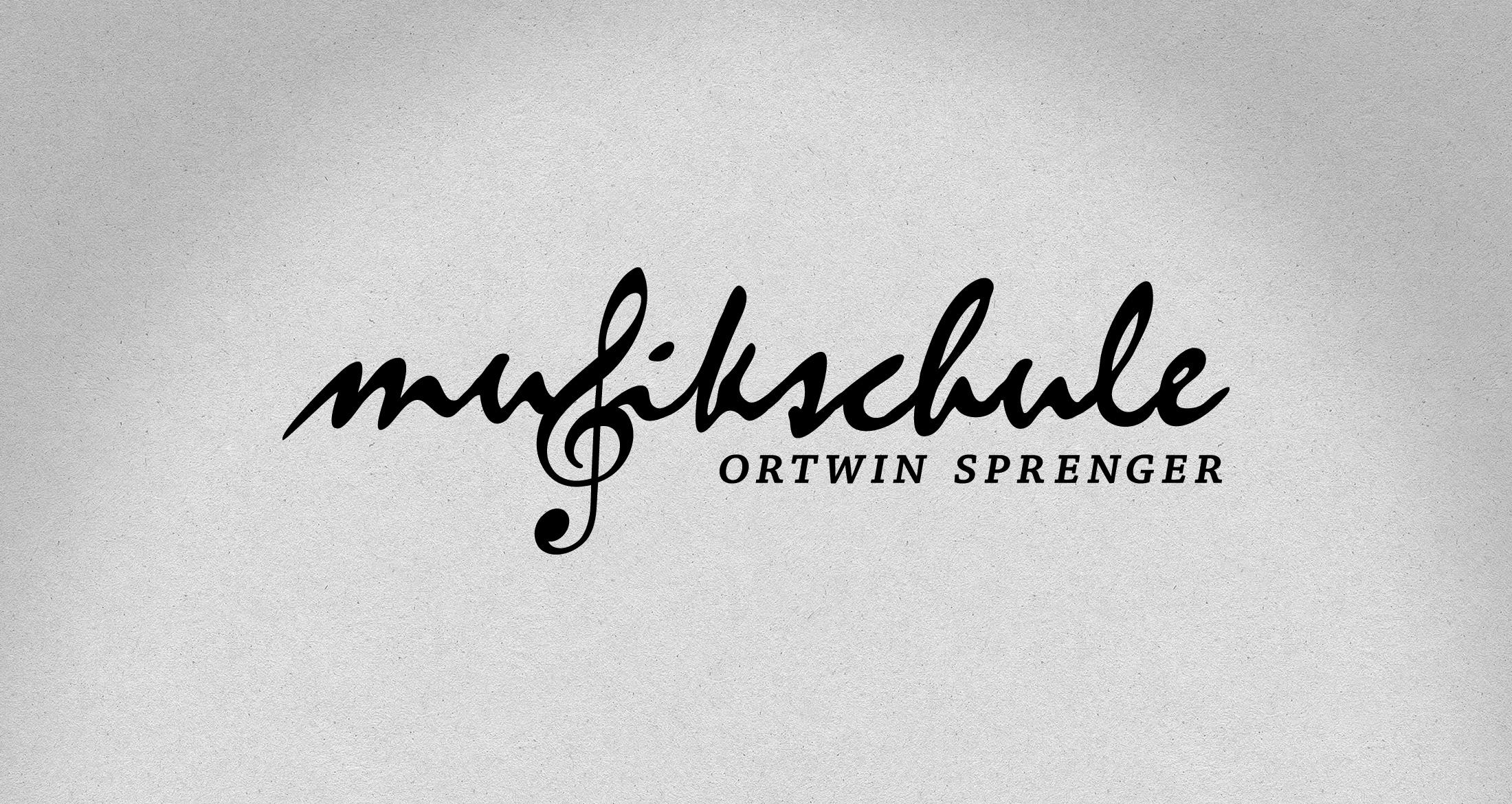 Logo Musikschule Ortwin Sprenger, Albisheim, 1-farbig schwarz