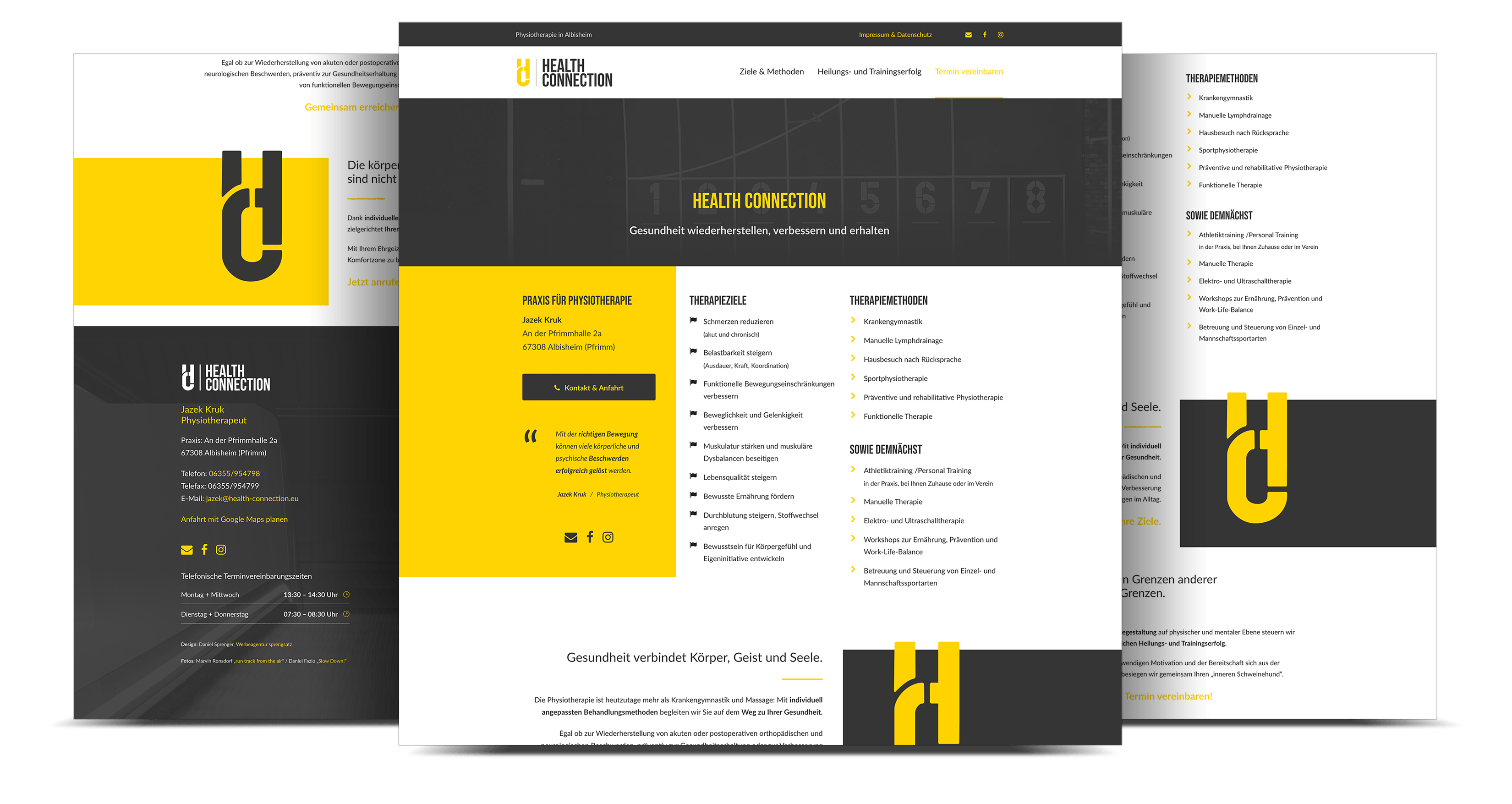 Webdesign Praxis Physiotherapie, Albisheim