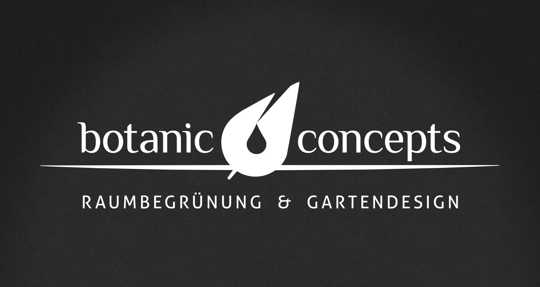 Logo botanic concepts, Dannenfels, 1-farbig weiß