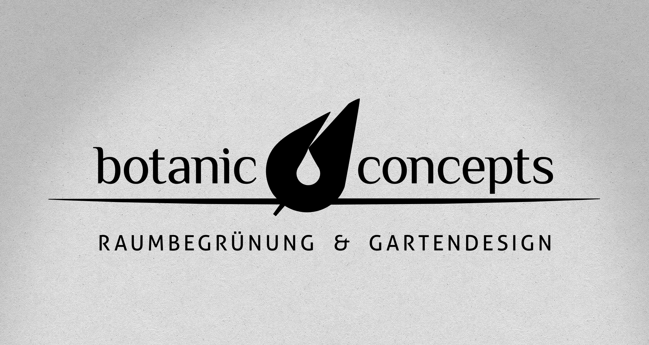 Logo botanic concepts, Dannenfels, 1-farbig
