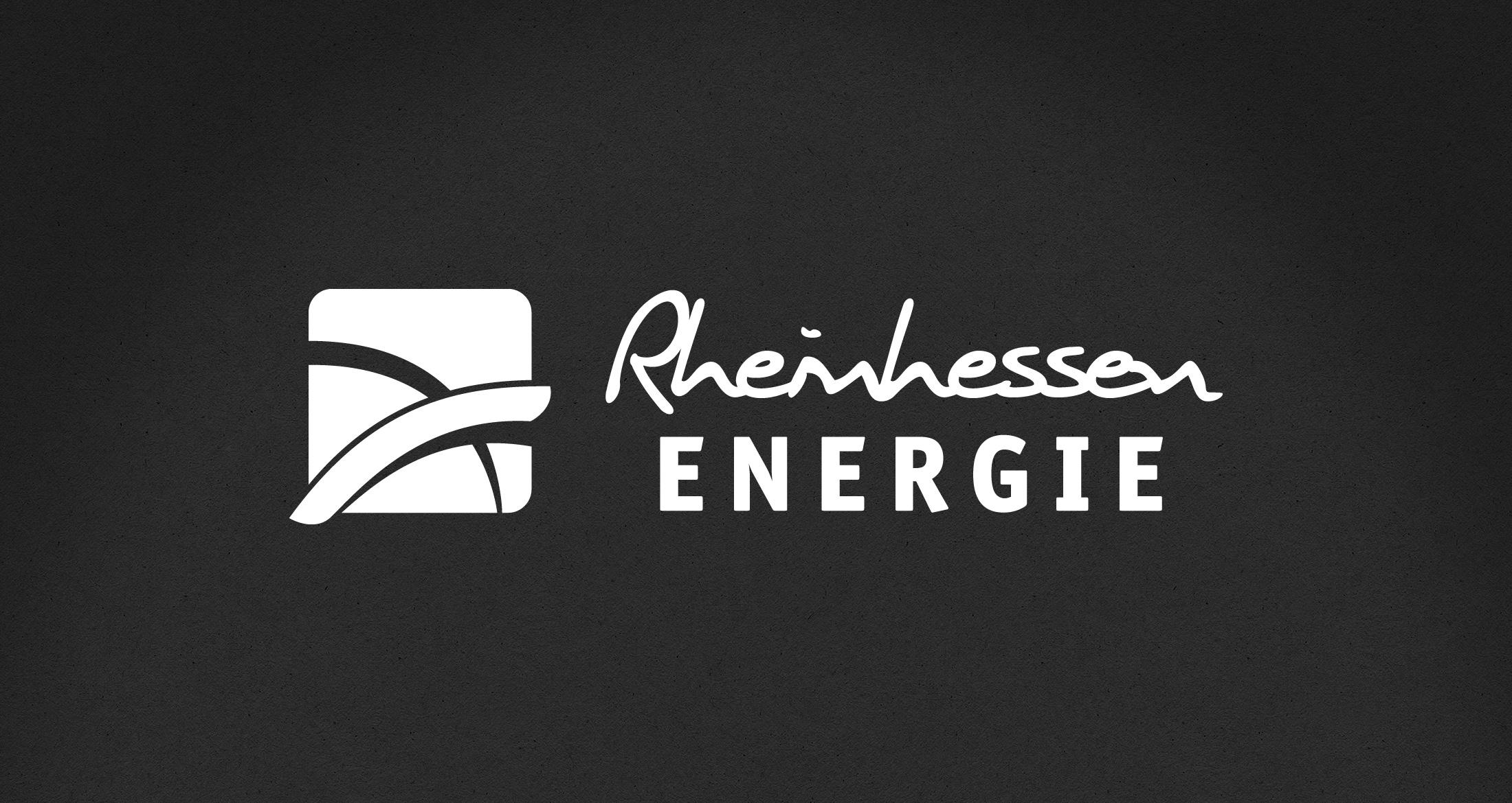 Logo Rheinhessen Energie, Sprendlingen-Gensingen, 1-farbig weiß (negativ)