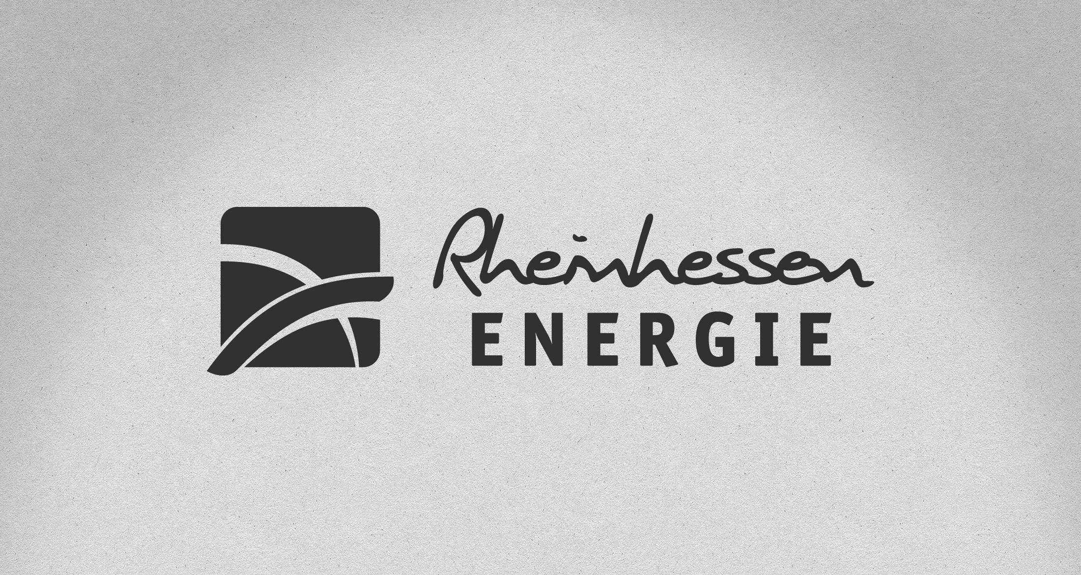 Logo Rheinhessen Energie, Sprendlingen-Gensingen, 1-farbig schwarz
