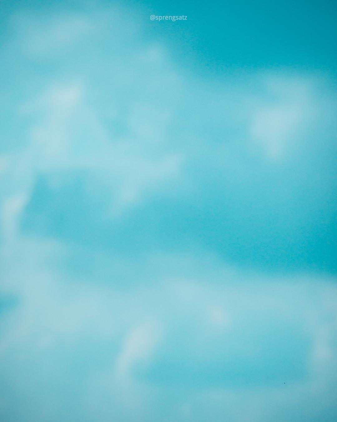 Blauer Himmel, ohne Ringeltaube