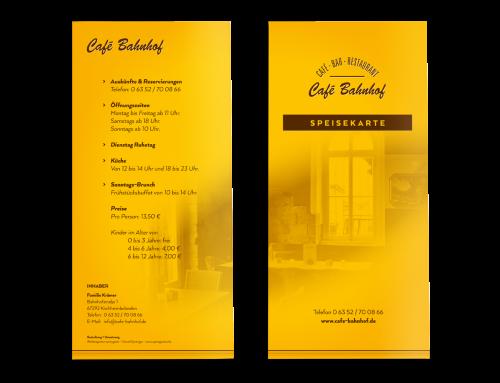 Gastrokarten Café – Bar – Restaurant, Kirchheimbolanden