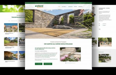 Firmenwebseite Garten-/Landschaftsbau, Mannheim