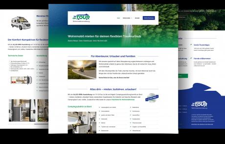 Firmenhomepage Wohnmobilvermietung in Lampertheim bei Mannheim. Konzeption, Responsive Webdesign, Umsetzung mit CMS.