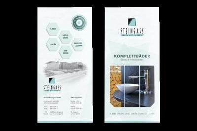 Werbeprospekt Fliesenfachgeschäft Steingass, Kirchheimbolanden (Titelseite + Rückseite)