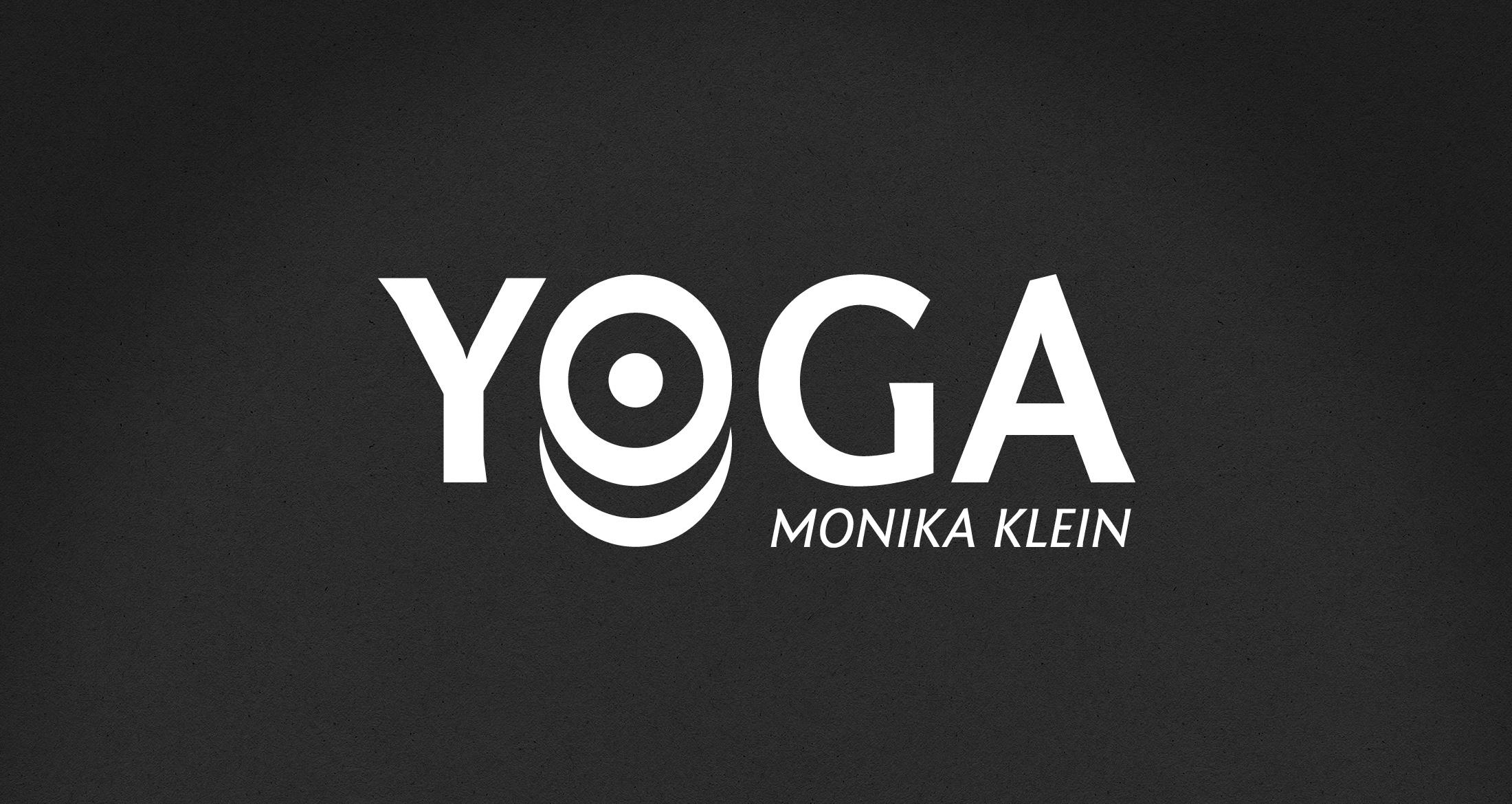 Logo Yoga-Schule Klein, Kirchheimbolanden, 1-farbig weiß (negativ)